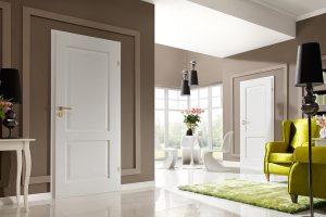 Cordoba pełne dąb biały drzwi wewnętrzne