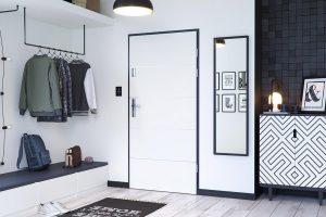 Kwarc RC 2 intarsje 6 biały drzwi do domów i mieszkań
