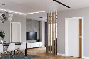 Porta Duo 4.0 biały lakier UV z dębem naturalnym drzwi wewnętrzne