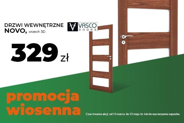 modny wzór, ponadczasowy kolor - drzwi ramowe Vasco w okleinie orzech 3D