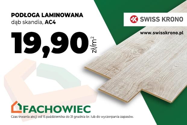 Podłoga laminowana, dąb Skandia AC4 za 19,90zł