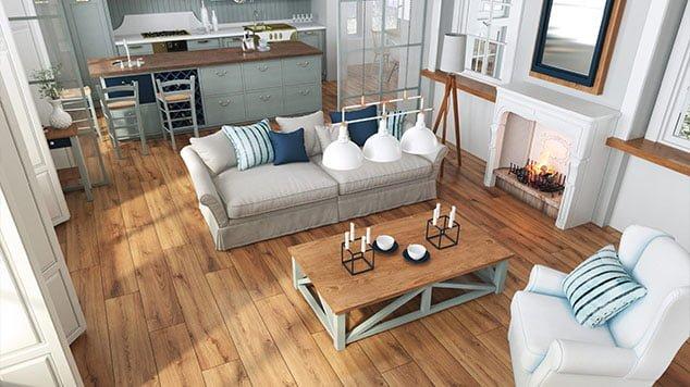 Bliskość natury w mieszkaniu, czyli motyw drewna… bez drewna.
