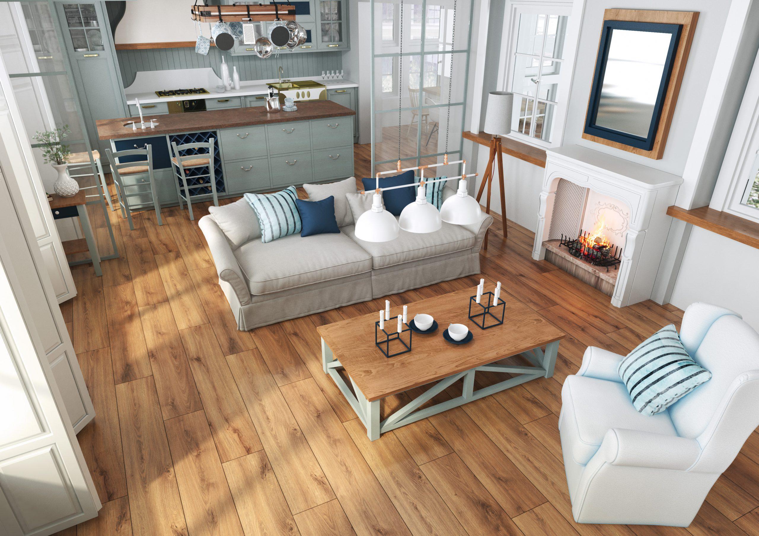 Bliskość natury w mieszkaniu, czyli motyw drewna… bez drewna.  Sprawdź, jak i gdzie wykorzystać ten wzór!