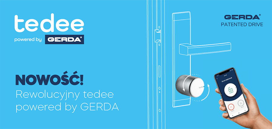 Smartlock tedee powered by GERDA